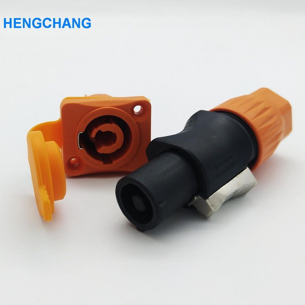 5set 3Pin Female Panel PowerCon Stage Light Power plug and socket waterproof 250V AC/DC 20A ac 220 250v ac 380 415v 16a iec309 ip44 industrial socket plug 3pin 4pin 5pin waterproof male famale connector
