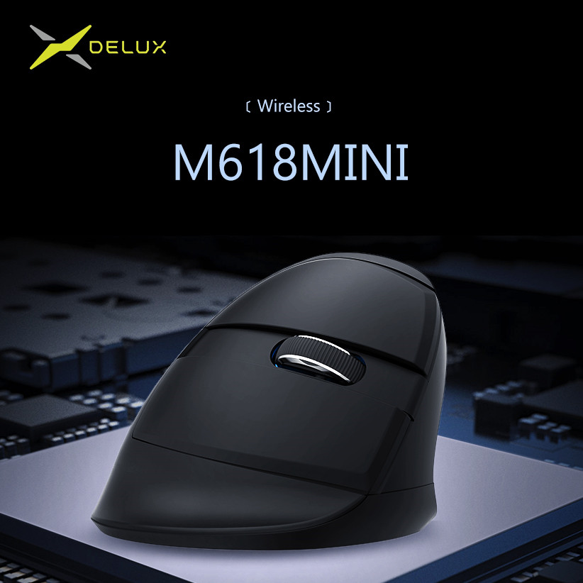 Image 4 - Delux M618 Mini 2.4GHz Ergonomic Vertical Mouse Wireless Gaming Mouse gamer 1600 DPI Silent Vertical Mice for PC gamer-in Mice from Computer & Office