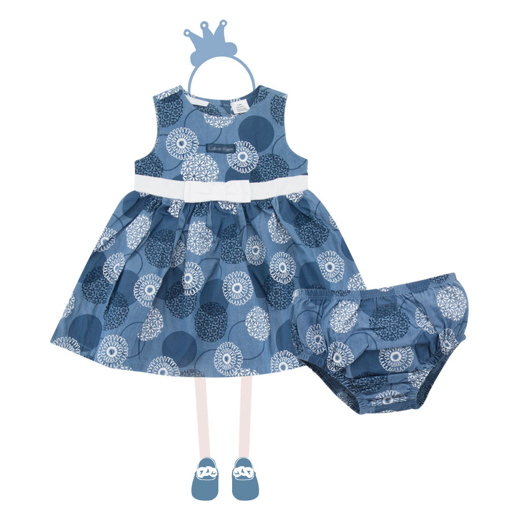 2018 summer baby-girl-clothes without sleeve manufacturers direct Korean children's dress