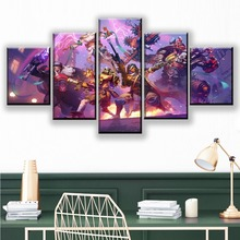 Canvas Art Printing Posters Home Decorative Wall Modular Pictures 5 Panels Games Heroes of the Storm Modern Painting Artwork