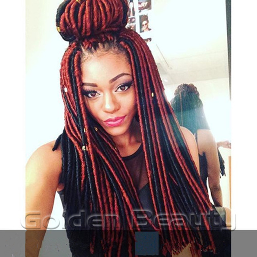 Beauty Hair Dyed Colored 20 Inch Soft Dread Locs Faux Loxs