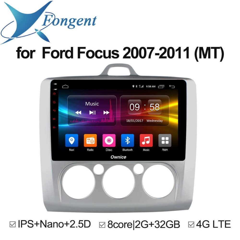 For Ford Focus 2007 2008 2009 2010 2011 Car Android 8.1 Stereo 2 1 Din Radio DVD Intelligent Multimedia player GPS Navigator DVR for mazda 6 ruiyi ultra 2008 2009 2010 2011 2012 android unit radio stereo multimedia player 1 2 din dvd gps navigator carplay