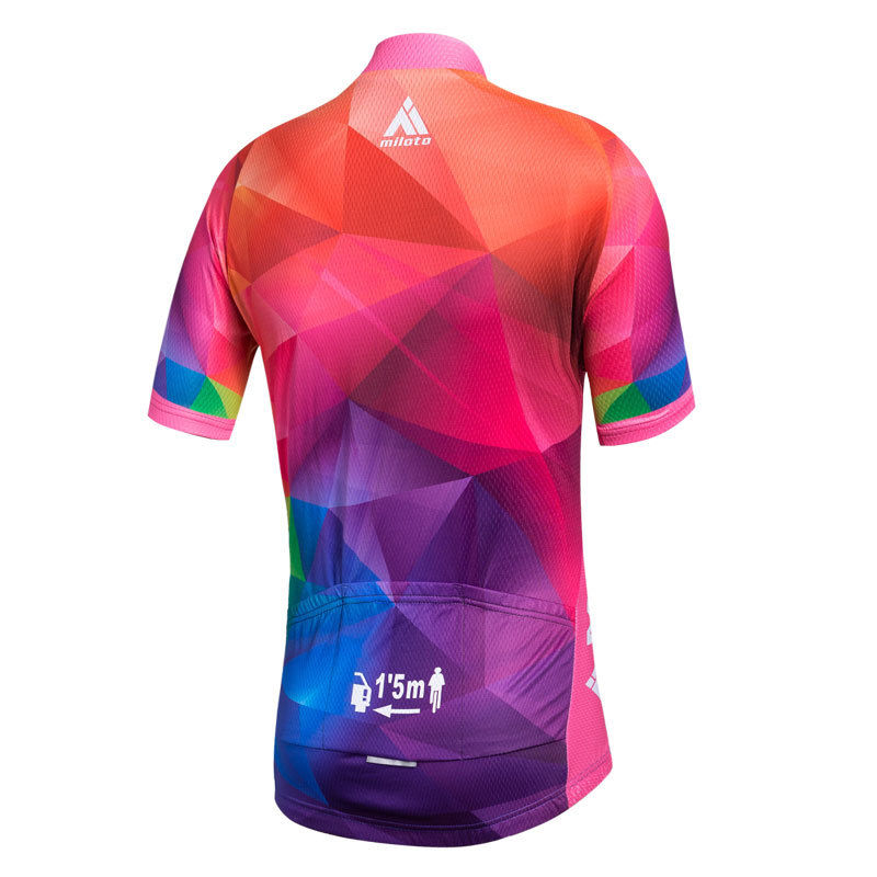 b96d0cd3f Reflective Miloto Ladies Cycling Jerseys Women s Bicycle Bike Shirts  Colorful Full Zipper MTB Clothing Short Sleeve S-5XL
