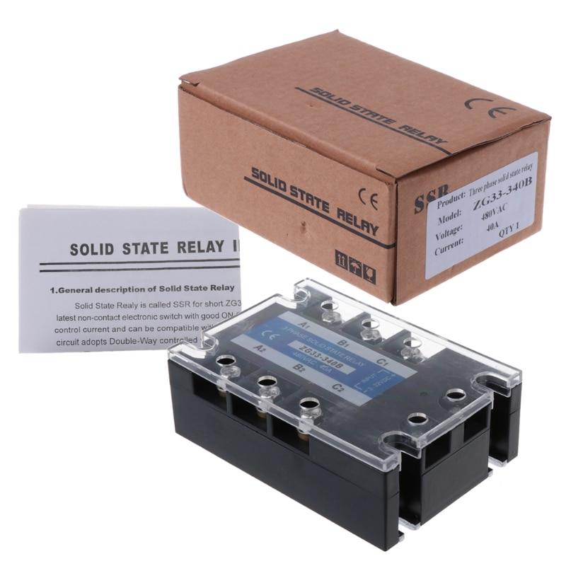 ZG33-340B 40A DC Control AC Three Phase Solid State Relay SSR Module ssr40da small solid state relay 24v 12v control 220v dc control ac 40a