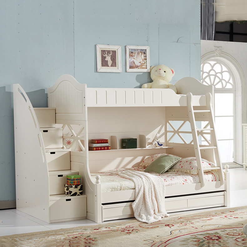 Korean Style Simple Bedroom Home Bedroom Up And Down The Lower Bed Mother Bed Princess Bed High Bed
