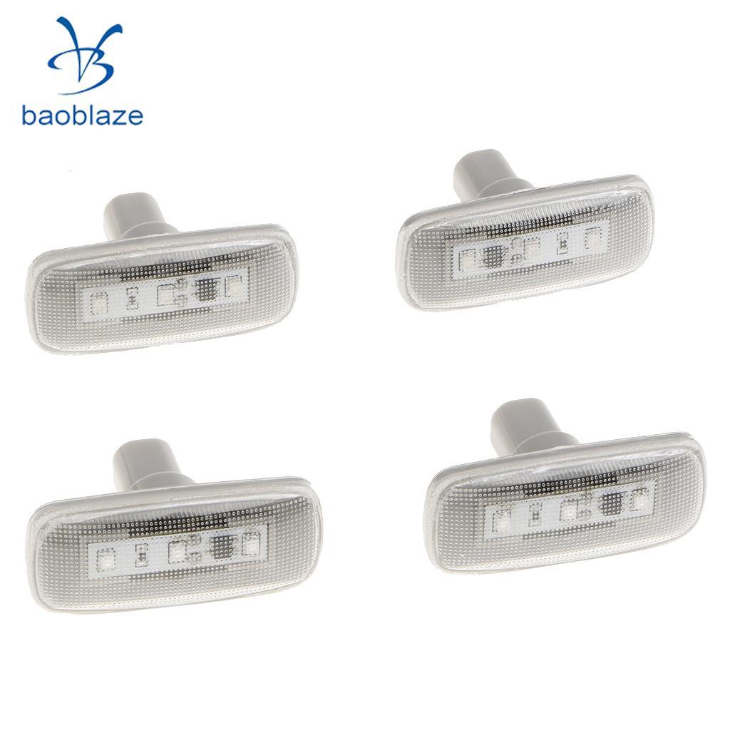 4x Dually Cab Bed Fender LED Side Marker Lights for 10-17 Dodge Ram Clear
