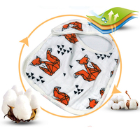 MIRACLE BABY 3 Layers Gauze 100 Cotton MuslinFeeding Burp Bib Bandana Bibs Snap Burpy Bibs Cloths