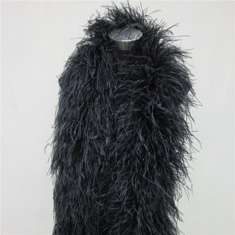 YY tesco 2 Yards Lot 6 Layer Natural Fluffy Ostrich Feather Boa Costumes Trim For Party