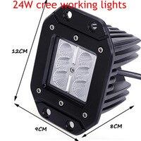 Freies verschiffen 24 Watt Spot Lampe 2 stücke FÜHRTE Arbeitslicht für Motorrad Traktor Lkw-anhänger Weg Von treibendem Fahrzeug