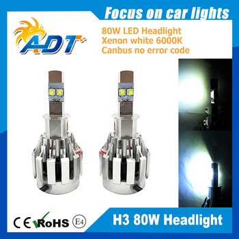 40W 6000LM LED H3 H3C Car Headlight fog Lamp 6000K For AUDI A3 For Buick LaCrosse For Audi A8 For Ford S-MAX Canbus No Error