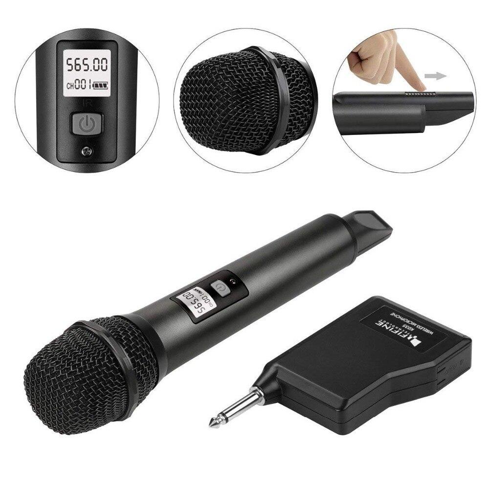 Système de Microphone sans fil Fifine avec récepteur Portable sortie 1/4 '', canaux UHF sélectionnables. Parfait pour l'église, le mariage, etc. - 2