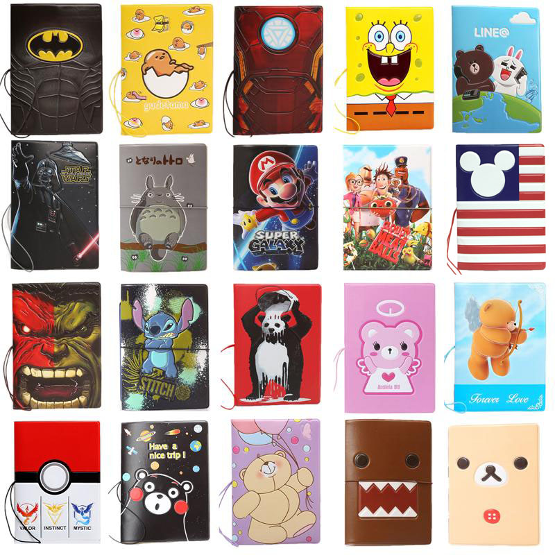 22 Different Styles Of Cartoon Passport Covers. Cool Boys Like Passport Holders, Passport Holders, Credit Card Holders