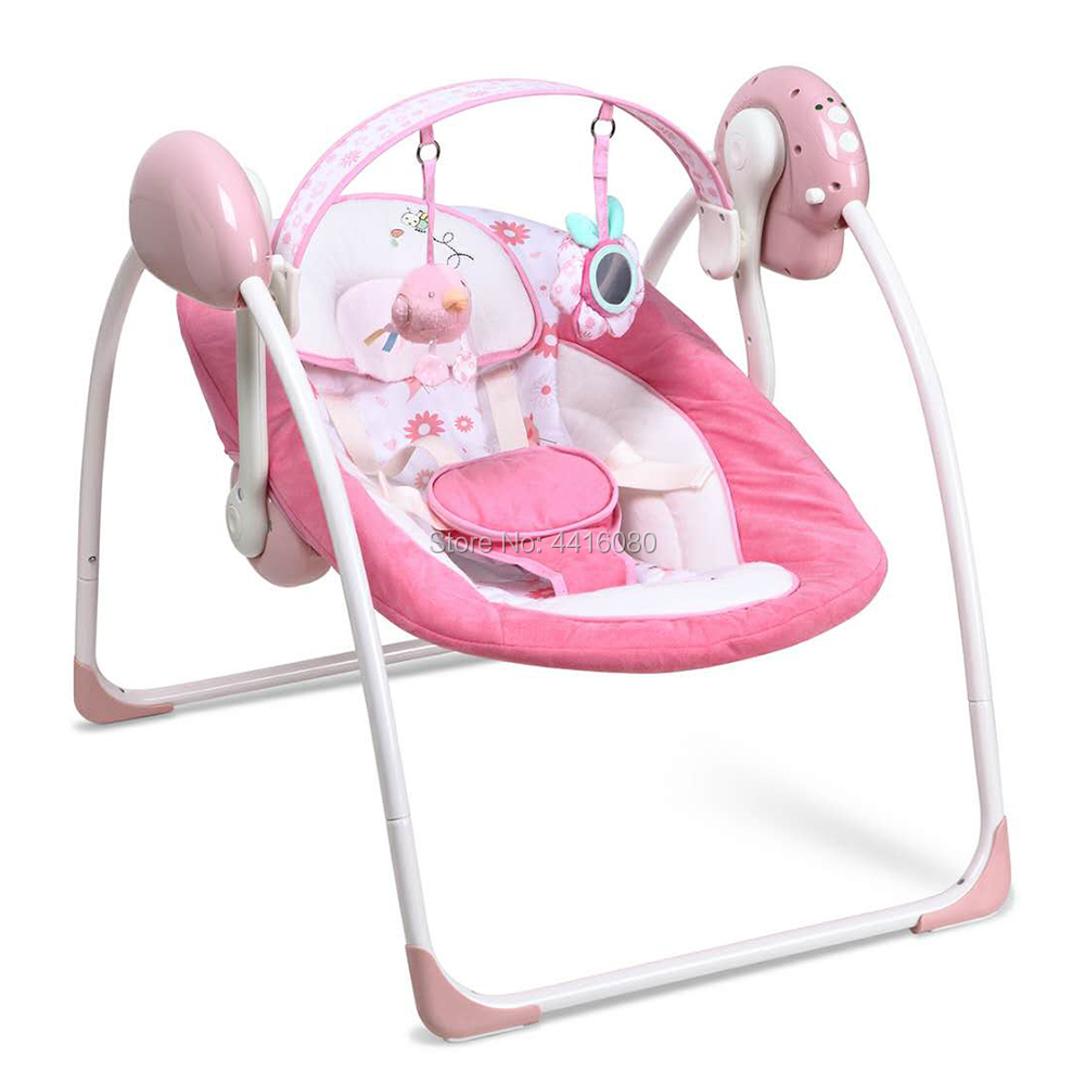 Automatic Rocking Electric Baby Swing Chair Baby Infant Rocker Bouncer Chair Music Vibration Swing Toys Sleeper Cradle Seat 2018 music note party swing dress
