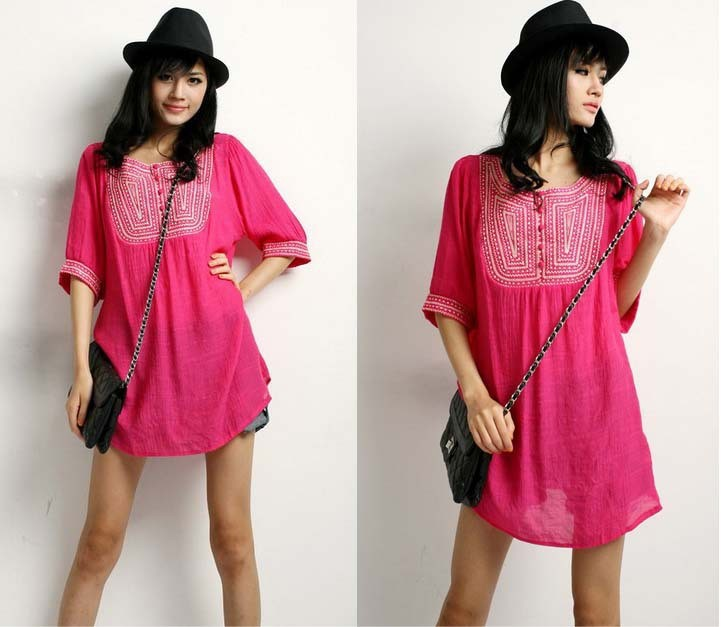 Discount-Maternity-Clothing-2014-summer-Embroidery-Blouse-shirts-pregnancy-clothing-Casual-women-Clothes-Camisa-