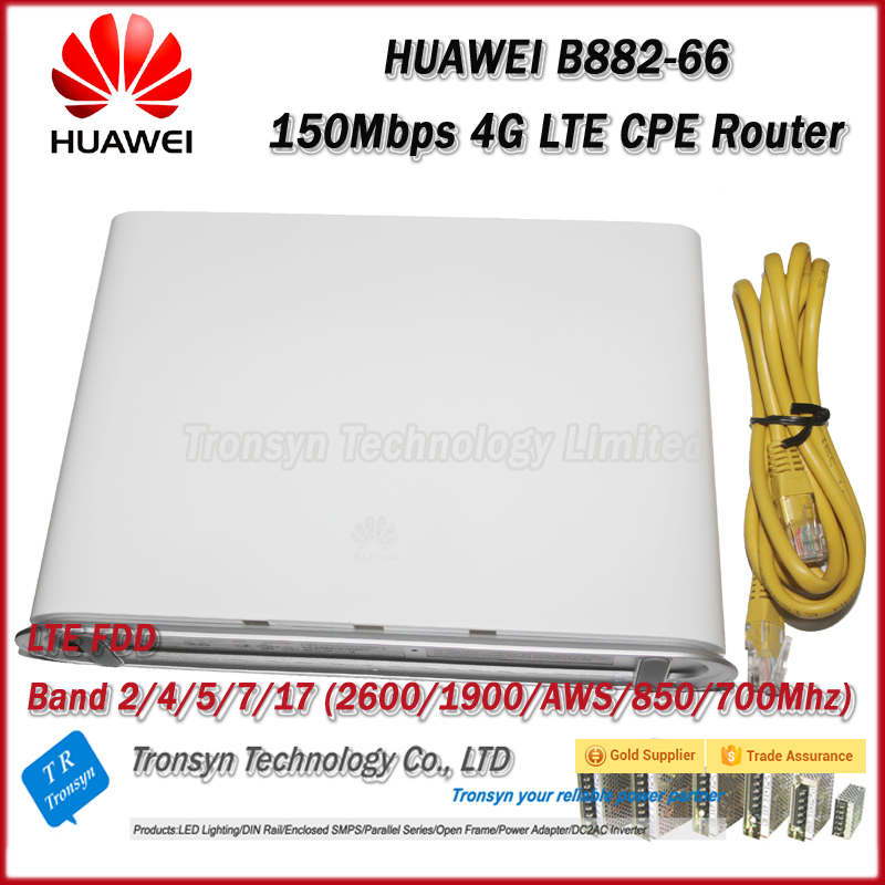 Original Unlock 100Mbps HUAWEI B882 4G LTE CPE Wireless Router Support LTE FDD 700MHz/850/ AWS/1900/2600MHz Like HUAWEI B890-66