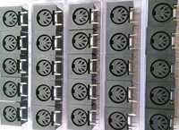 100 sztuk x okrągłe złącze DIN Jack kobiet 5 pin do montażu PCB złącze przemysłowych urządzeń sterowania przemysłowego złącze zasilania