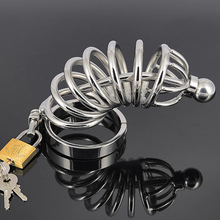 long Stainless steel CB6000 chastity device male cage penis plug Urethral sound tube probe bondage belt sex toy