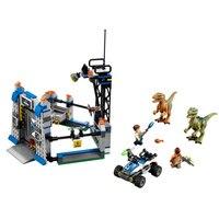 79180 LELE Jurassic World 3 Raptor Escape Figure Blocks Construction Building Bricks Toys For Children Compatible Legoe