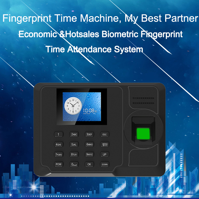Fingerprint Biometric Time Attendance System TCP/IP Fingerprint USB Clock Recorder Office Employee Device Attendance Machine-in Fingerprint Recognition Device from Security & Protection    1