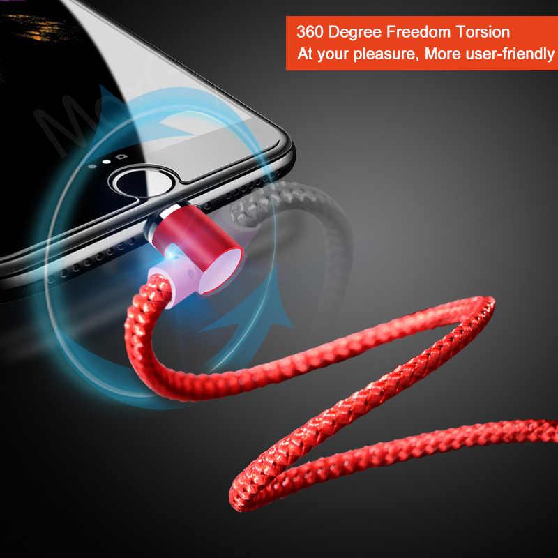 NOHON 3 で 1 磁気 USB 充電ケーブル急速充電器 iphone サムスン Xiaomi の Android マグネット 8Pin マイクロタイプ C ケーブル