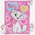 Disney Marie Cat Коралловое флисовое пушистое одеяло на кровать/диван  кондиционер  спальный чехол  постельное белье  простыня для девочек