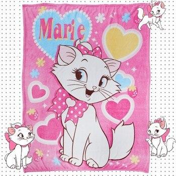Disney Marie Cat Коралловое флисовое пушистое одеяло на кровать/диван, кондиционер, спальный чехол, постельное белье, простыня для девочек
