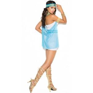 Image 3 - Ladies White Greek Goddess Costume Women Sexy Arabic Prince Fancy Dress Female Egyptian Costume for Halloween Party Dress