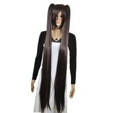 StrongBeauty của Phụ Nữ Cosplay Tóc Giả Đôi ponytail Dài Straight Hairstyle 2 Clip On Tổng Hợp Heat tóc giả Sợi Kháng