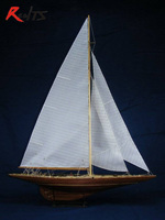 Scale 1 80 In 1934 America S Cup Sailing Competition Endeavour Sail Boat Wooden Model Kit