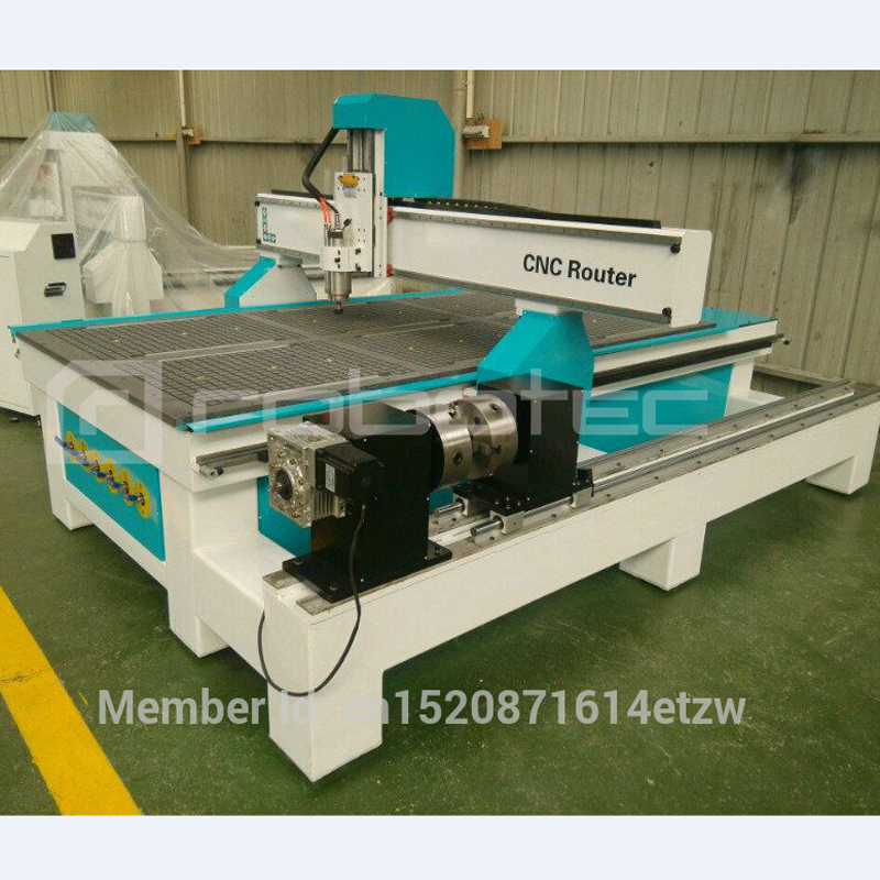 Robotec Automatic Cnc Router 4 Axis 1325 Atc/Cnc Machine 1224/1325 Cnc With Rotary/cnc Wood+router 1530 Wood Cutting Machine