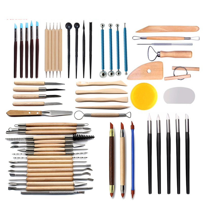 Sell Like Hot Cakes Pottery Clay Sculpture Tool Indentation Silicone Pen Sculpture Knife Set Multifunctional Combination