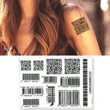 M-Theory Sexy Two-dimensional Code Temporary Body Art Flash Sticker 10x17cm Swimsuit Bikini Dress Choker Makeup