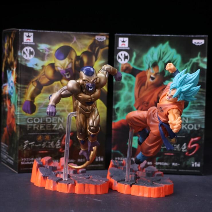 Anime Dragon Ball Z action Figure model Toys Resurrection F Golden Freezer Frieza Son Goku Anime DBZ Collectible Model Dolls