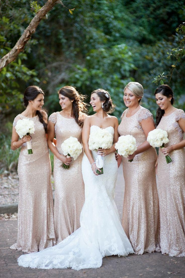 Aliexpress buy champagne gold long bridesmaid dresses aliexpress buy champagne gold long bridesmaid dresses sequined short sleeve floor length bridesmaid dress 2015 prom gown wedding party dress from ombrellifo Images