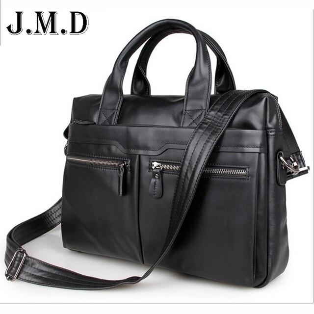 Bolsa de viaje de los hombres 100% hombres de Cuero Genuino bolso Vintage Bolsa de Mensajero de los hombres maletín Portátil de negocios Maletín