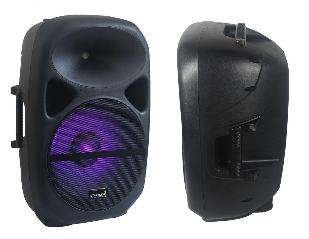 15inch pro pa dj 2500w speaker with led rgb light for stage club ktv karaoke church party