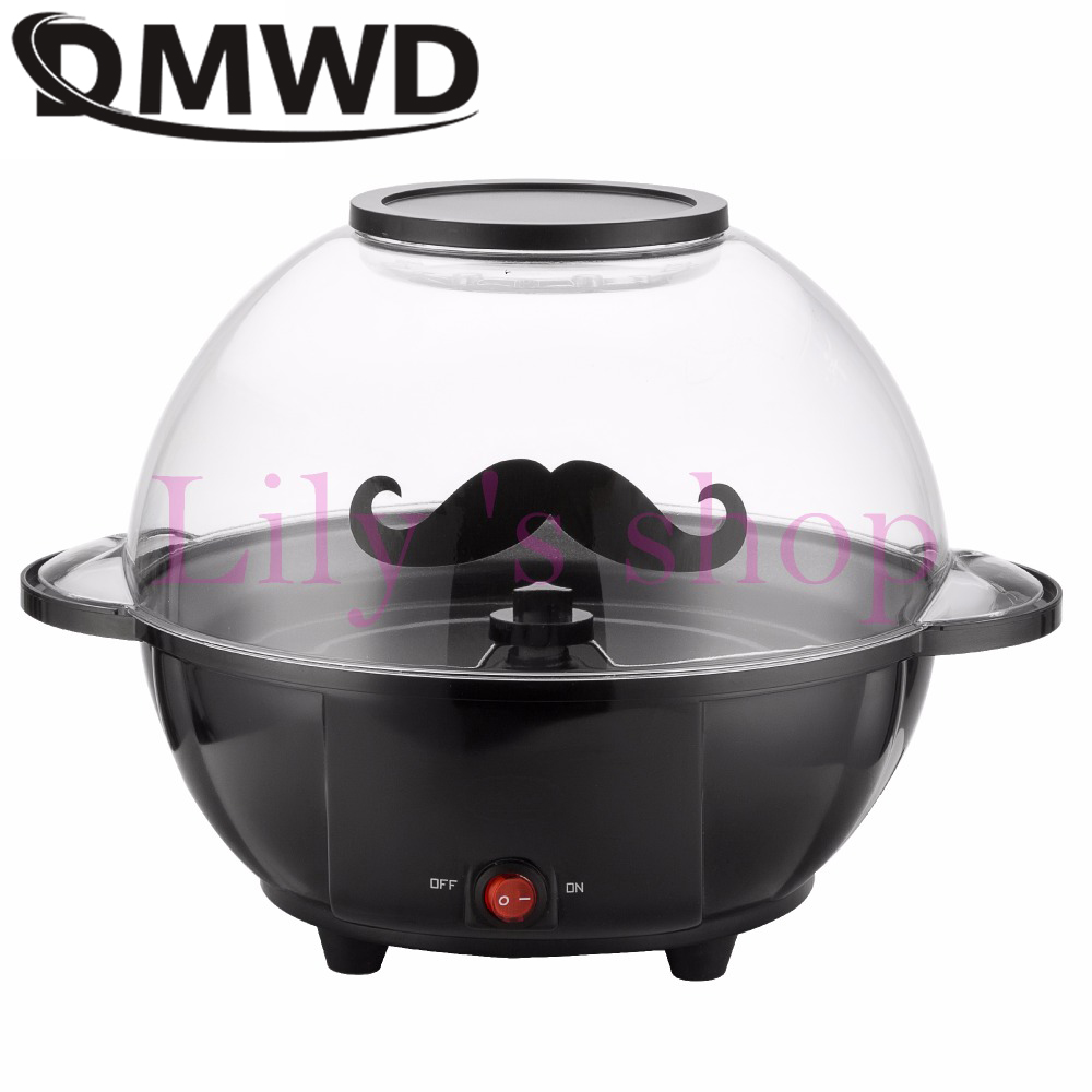 DMWD Mini Automatic Oil-popped popcorn Making machine Electric popcorn maker Commercial household sugar chocolate Corn Popper EU цена и фото
