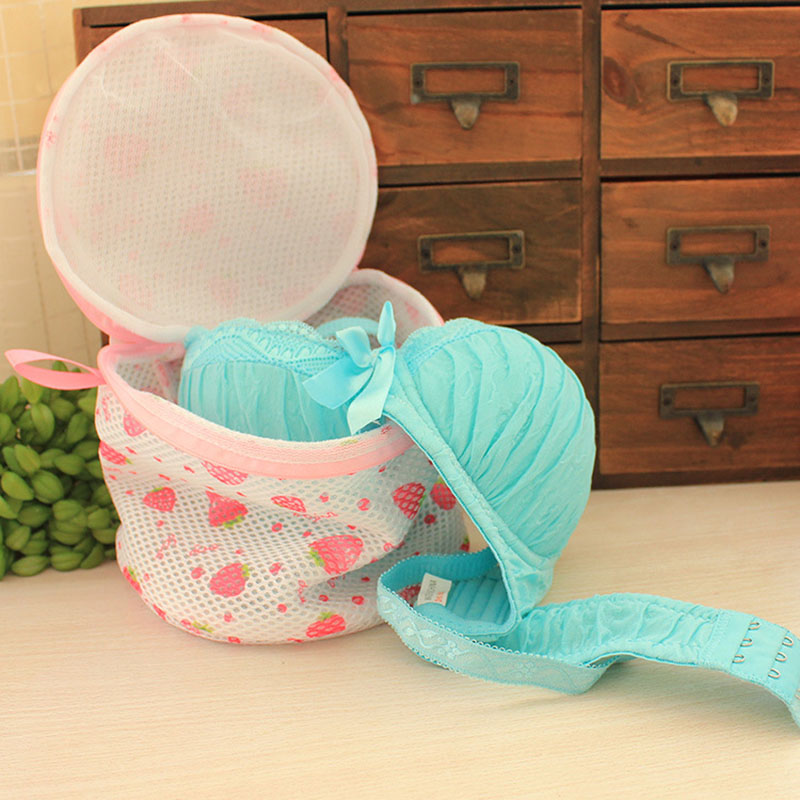 Lynnne Zipper Laundry Bags Bra Underwear Products Strawberry Baskets Mesh Bag Household Cleaning Tools Accessories Laundry Wash