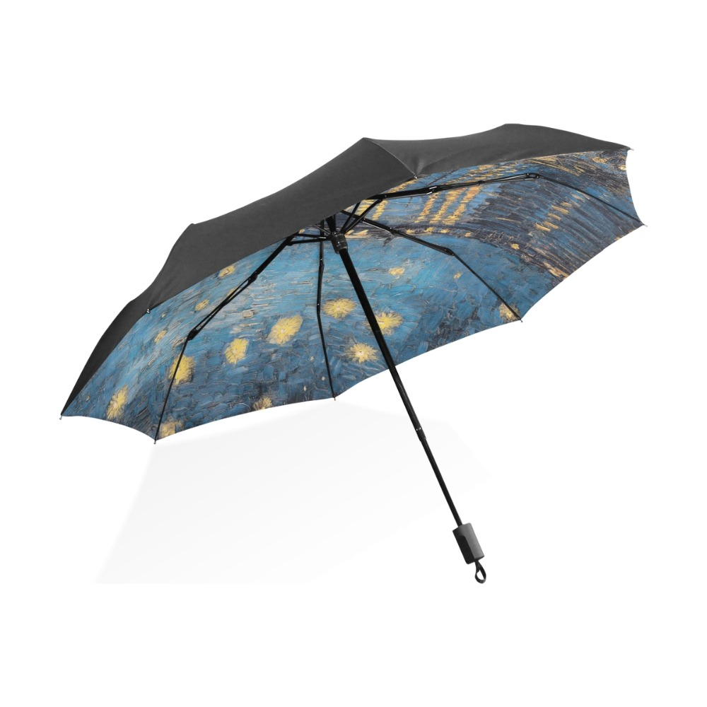 van gogh art oil painting umbrella starry night anti uv outer black lightweight parasol elegant. Black Bedroom Furniture Sets. Home Design Ideas