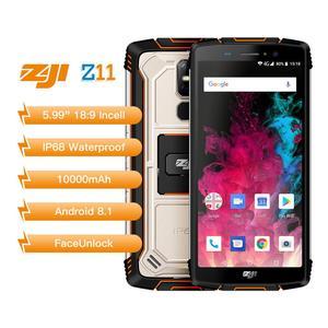 """Image 2 - מקורי Homtom Zoji z11 נייד טלפון IP68 5.99 """"MTK6750T אוקטה core 4GB 64GB 10000mAh אנדרואיד 8.1 פנים נעילה"""