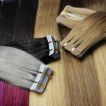"""ZZHAIR 30g-70g 14\"""" 16\"""" 18\"""" 20\"""" 22\"""" 24\"""" Machine Made Remy Tape Hair 100% Human Hair Extensions 20pcs/pack Tape In Hair Skin Weft"""