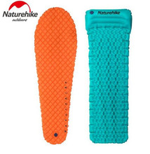 цены Naturehike Outdoor Camping Inflatable Tent Moisture-Proof Mat Single Pads With Pillow Mummy Lightweight Air Mattress