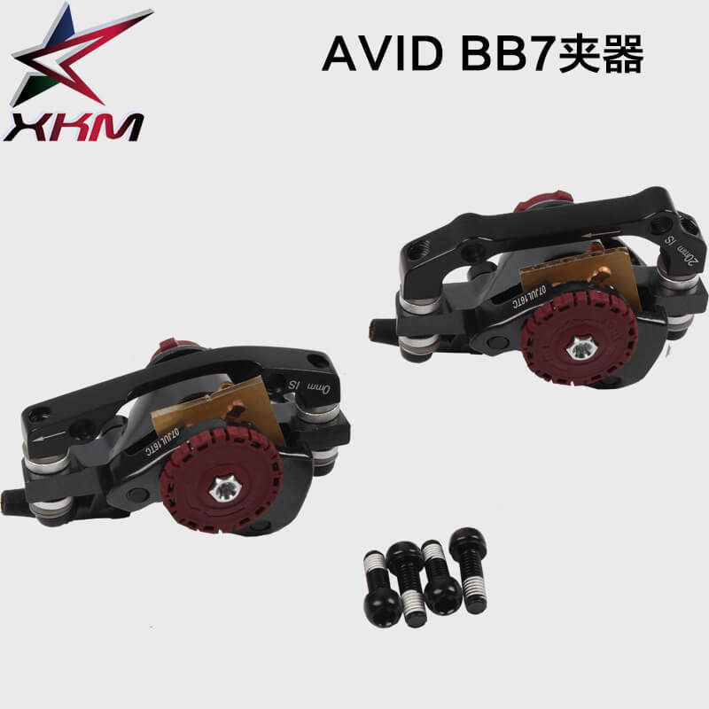 AVID Bicycle Disc Brake Clamp Black Mountain Road MTB Bike Disc Brakes Mechanical Caliper Cycling Double Brake for XC/FR/AM/DS cyrusher am xf200 black red mans mountain bike shiman0 alivio m4000 27 speeds xcr fork bb5 disc brakes