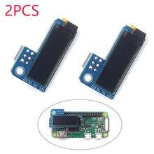 Монохромный oled-экран для Raspberry Pi Zero SSD1306, 2 шт., 0,91 дюйма, IIC IEC 128x32, синий, постоянный ток, 3,3 В, FZ3579