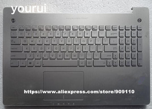 yourui 95% New High quanlity Laptop keyboard For XN550 N550JV N550JK N750 N551 keyboard with palmrest Version Silver