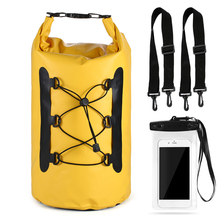 Outdoor Backpack Roll-top Floating Water Bag with Waterproof Pouch Beach Dry Bag Phone Case For Boating Fishing Surfing