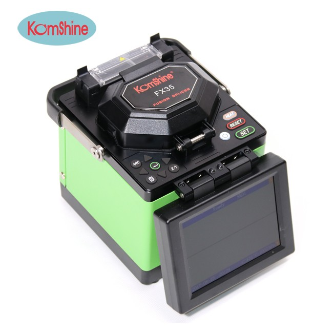 Fiber welding Machine KomShine FX35 Fusion Splicer with Fiber Cleaver Core to Core Alignment