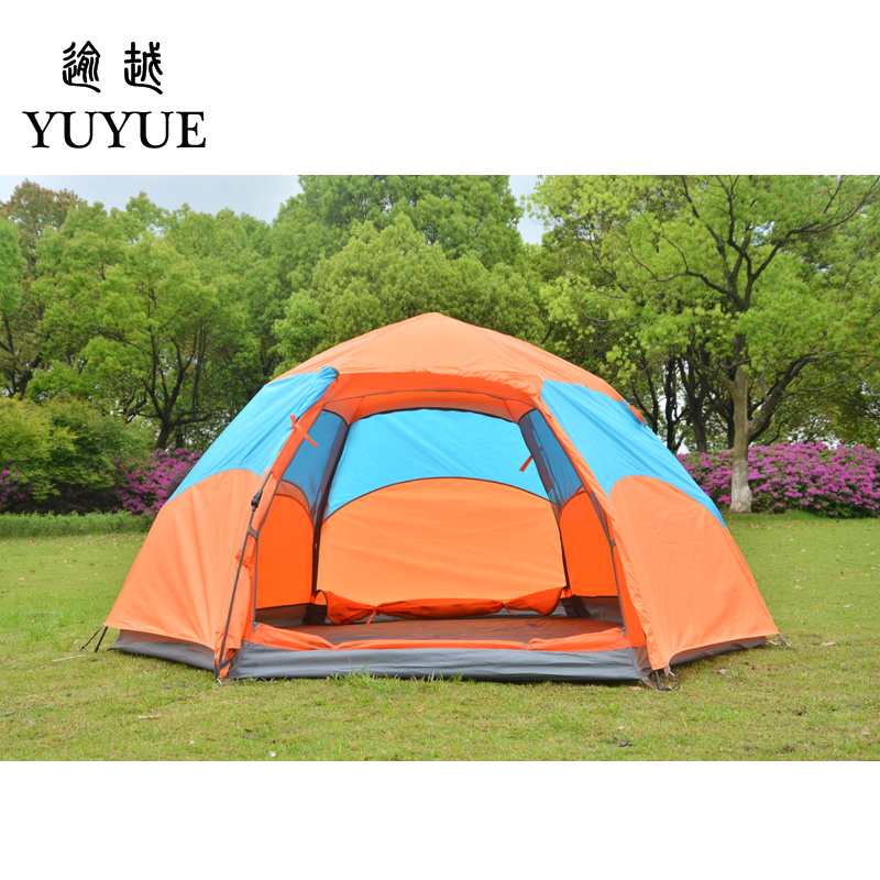 3-4 person waterproof pop up tent for winter fishing hiking outdoor Camping Tent Waterproof family party tent no-see-um mesh 0
