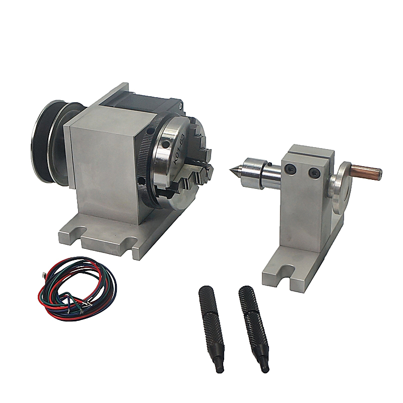 cnc rotary axis a axis 4th axis 65mm activity tailstock chuck live center for mini lathe