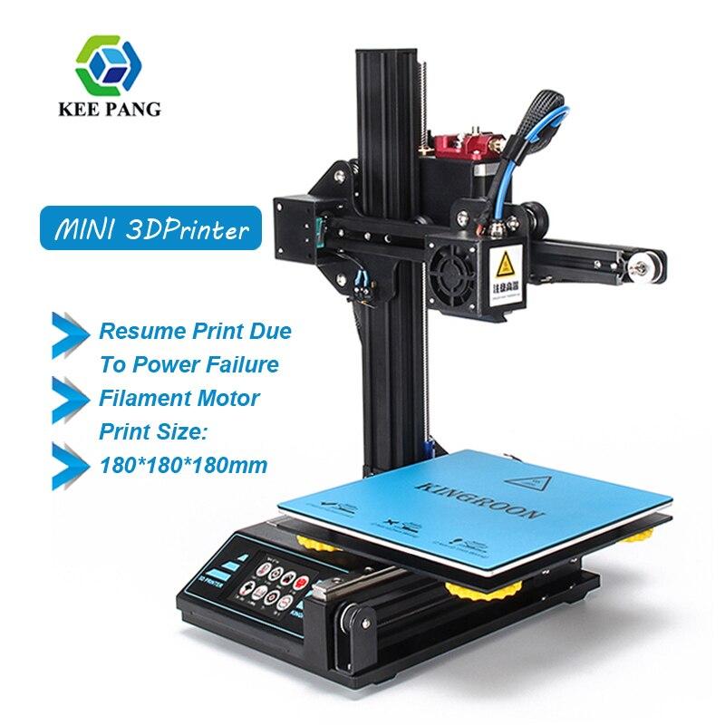 Construção de impressora 3d placa atualizada retomar a impressão de falha de energia kit diy hotbed 2019 novo impresora 3d 180x180x180mm